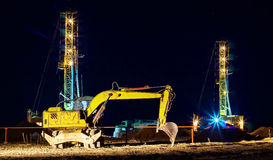Drilling rigs. Royalty Free Stock Photography