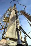 Drilling rigs. Mechanism lowers and raises the drill pipe in the well Royalty Free Stock Photography