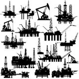 Drilling rigs and oil pumps Stock Photo