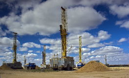 Drilling rigs. Stock Image