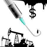 Drilling rigs and syringe Stock Image