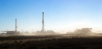 Drilling rigs. Stock Photo
