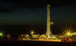 Drilling rigs. Drilling rigs are working in the steppes of southern Kazakhstan Royalty Free Stock Photography