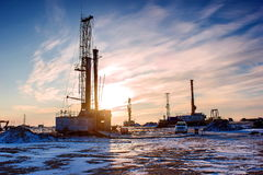 Drilling rigs Stock Image