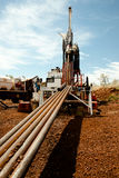Drilling Rods. Core Drilling Rods in Australia Stock Image