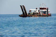 Drilling ship Royalty Free Stock Images