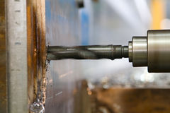 Drilling steel. Closeup image of auger drilling steel royalty free stock images