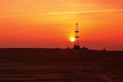 Drilling sunset. Stock Image