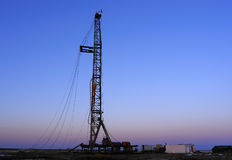 Drilling tower. Rigs in the morning the sky is very beautiful Stock Photography