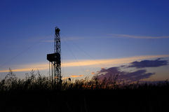 Drilling tower. Rigs in the morning the sky is very beautiful Royalty Free Stock Photos