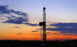 Drilling tower. Rigs in the morning the sky is very beautiful Stock Photos