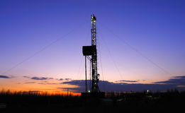 Drilling tower. Rigs in the morning the sky is very beautiful Royalty Free Stock Photo