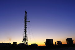 Drilling tower. Rigs in the morning the sky is very beautiful Stock Images