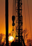 Drilling tower. After sunset sky and drilling tower of beautiful Royalty Free Stock Photos