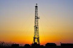 Drilling tower. Rigs in the morning the sky is very beautiful Royalty Free Stock Photography