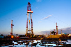Drilling tower Royalty Free Stock Photography