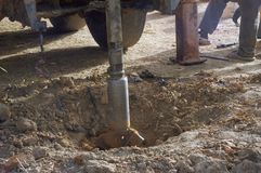 Drilling of a well in Burkina Faso Faso Stock Photo