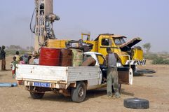 Drilling of a well in Burkina Faso Faso Royalty Free Stock Photography