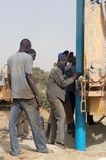 Drilling of a well in Burkina Faso Faso Stock Photos
