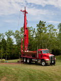 Drilling well in yard Stock Images