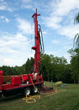Drilling well in yard Stock Photos