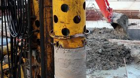 Drilling wells stock footage