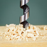 Drilling in wood Stock Photos