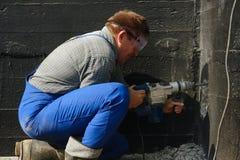 Drilling work Stock Photos
