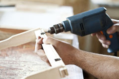 Drilling in the workshop Stock Photography