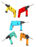 Drills isolated on white background Royalty Free Stock Photography