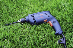 Drills lawn. Royalty Free Stock Photos