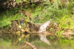 Drimona`s fall a Euboea in Greece. A beautiful landscape of a famous touristic destination. Stock Photos