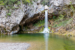 Drimonas waterfall, Euboea, Greece Royalty Free Stock Photography