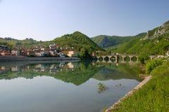 Drina river. Beautiful drina river, bosnia and herzegovina stock photo