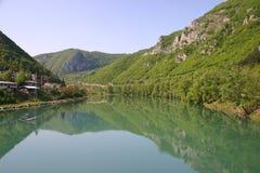 Drina river. Beautiful drina river, bosnia and herzegovina royalty free stock image