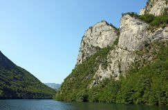 Drina river canyon with massive rocks. Landscape royalty free stock photo
