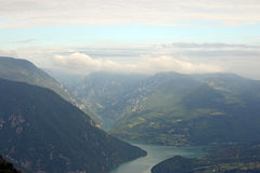 Drina river and Tara mountain. Landscape royalty free stock photography