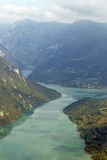 Drina river Tara mountain. Landscape royalty free stock photography