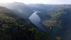 Drina video del río del abejón almacen de video