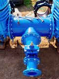 Dring water piping , Gate valves and reduction member. Royalty Free Stock Photography
