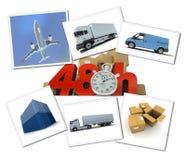 Dringend vrachtvervoer royalty-vrije illustratie