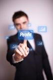 Dringend winstpictogram met één hand Stock Foto