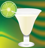 Drink. Sweet margatita coctel with lemon Royalty Free Stock Photography