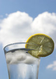 Drink. Cool summer drink against a sky background stock photo