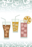 DRINK. This graphic is food and beverages Stock Photography