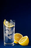 Drink. Cold fresh drink with lemon Stock Photos