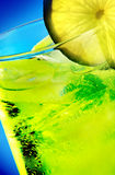 Drink. Close up of a green lemon drink Royalty Free Stock Photography