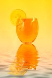 Drink. Fresh lemon and fresh liquor Stock Image