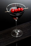 Drink. Dark drink with cherries on top Stock Photo