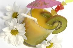 Drink. With flowers and fruit Royalty Free Stock Images